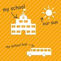 Children s world school background eps Royalty Free Stock Images