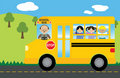 Children in School Bus Stock Photography