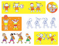 Children school icons Stock Photo