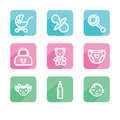 Children. Set of icons. Royalty Free Stock Photo