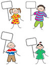 Children with signs Royalty Free Stock Photo