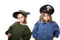 Children in similar italian military uniform Royalty Free Stock Images