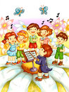 Children that sing Royalty Free Stock Photo