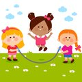 Girls playing at the park Royalty Free Stock Photo