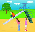 Children Slide Play Royalty Free Stock Image