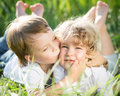 Children in spring Stock Photos