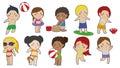 Children Summer Cartoon Clipart