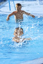 Children in swimming pool Royalty Free Stock Images