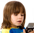 Children texting Stock Images