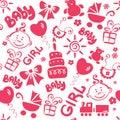 Children texture (girl) Royalty Free Stock Photo