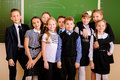 Children together happy schoolchildren at a classroom education Royalty Free Stock Photography
