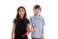 Children with toothbrush Royalty Free Stock Photography