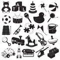 Children Toys Icon Set Royalty Free Stock Photo