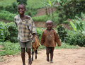 Children in Uganda, Africa Royalty Free Stock Photos