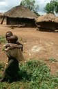 Children in a village in Uganda. Royalty Free Stock Photography