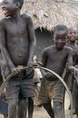 Children in a village in Uganda. Stock Photos