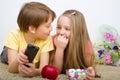 Children watching TV Royalty Free Stock Photo