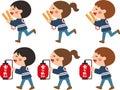 Children who patrol fire.Vector illustration.Cartoon character.