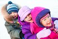 Children in wintertime Royalty Free Stock Image