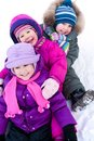 Children in wintertime Stock Photo