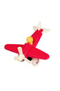 Children wooden red plane Royalty Free Stock Photo