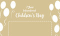 Childrens day background with balloon