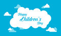Childrens day with cloud background