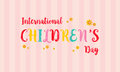 Childrens day colorful background card