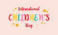 Childrens day colorful style background