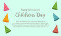 Childrens day design greeting card