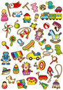 Childrens day a variety of toys Stock Image