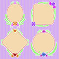 Childrens floral frame vector illustration Royalty Free Stock Photos