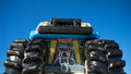Childrens inflatable monster truck Royalty Free Stock Photo