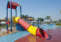 Childrens play area in a pool Royalty Free Stock Photo