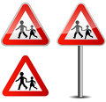 Childrens roadsign illustration of on white background Royalty Free Stock Photography