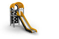 Childrens slide playground for on white background clipping path Royalty Free Stock Photography