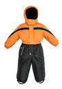 Childrens snowsuit fall on a white background Stock Photography