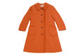 Childrens topcoat of thick cloth reddish brown Royalty Free Stock Photos