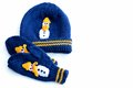 Childrenss hat and mittens Royalty Free Stock Photo