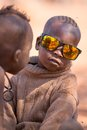 Childs de Himba Images stock