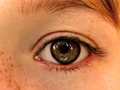 Childs eye a close up photo of a young Stock Image