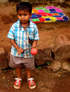 Childs Rangoli Foto de Stock Royalty Free
