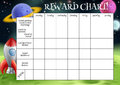 Childs reward or chore chart a with spaces for stickers stars Royalty Free Stock Photo