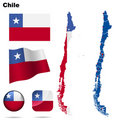 Chile set. Royalty Free Stock Image