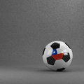 Chile soccer ball chilean in front of plaster wall Royalty Free Stock Photography
