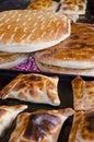Chilean Empanadas and Tortillas Vertical Royalty Free Stock Photo