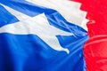 Chilean flag Royalty Free Stock Photos