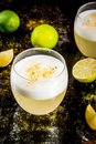 Chilean traditional liqueur pisco sour Royalty Free Stock Photo