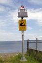 Chilean tsunami warning sign, Chile
