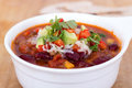 Chili con carne bowl closeup Royalty Free Stock Image